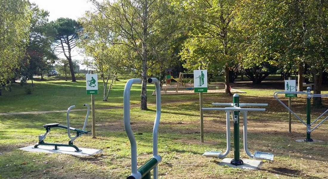 aire de sport au parc voulgre sur la commune de mussidan